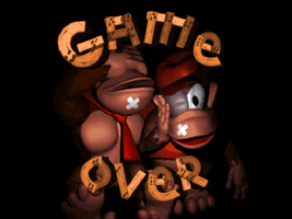 Donkey Kong Country game over screenshot by cellamare
