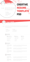 Free Creative Resume Template PSD - cssauthor.com by cssauthor