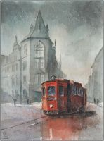 By tram through old Chorzow by sanderus