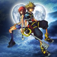 Sora and Kairi by YunieSummoner