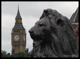 Lion and Big Ben by HoFattoSoloCosi