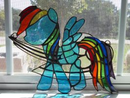 Rainbow Dash Stained Glass by WorldEdit