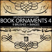 Book Ornaments Brushes 4 by Leichnam