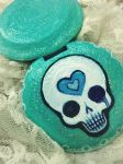 Skull Compact Mirror by SavannahColleen