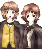 Merry and Pippin - Anime Style by angelsalvia