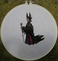 Malificent cross stitch by grumble-king2