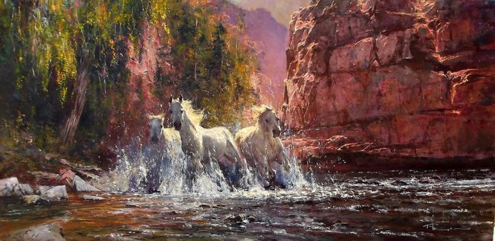 'Valley Bolt' - Oil on Canvas by Robert Hagan by robert-hagan