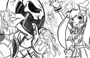 Project Justice Girls WIP by TentacleF00