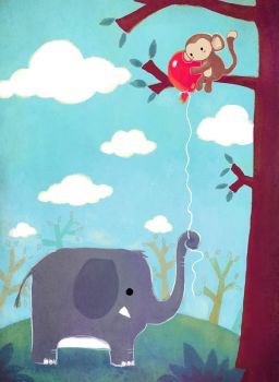 The Elephant and the Balloon by Ilyich