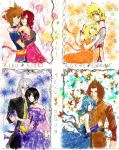 Kingdom Hearts Couples color by rinounahearts