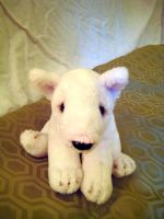 Bull Terrier Puppy Plush by AlixRae