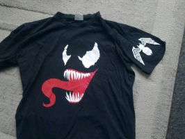 Venom T-shirt sleeve detail by Xpendable