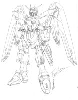 Freedom Gundam sketch by GuyverC
