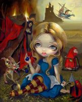 Alice and the Bosch Monsters by jasminetoad