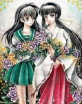 Kagome and Kikyo by chicharia