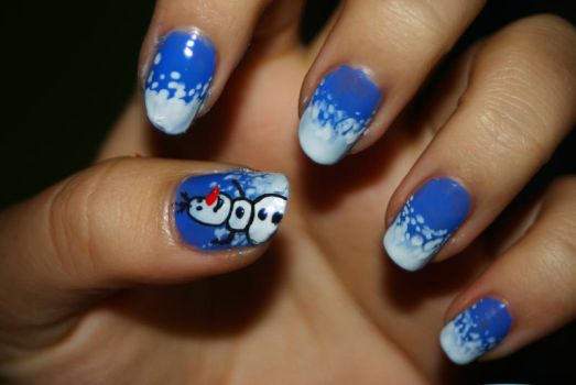 Frozen Nail Art. by MJSweetDreams
