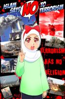 No to terrorism 2 by Nayzak