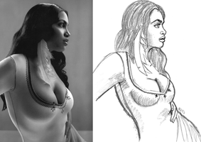 Drawing from reference. by kaioutei