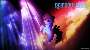 Rainbow Dash can party Wallpaper by nsaiuvqart