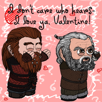 Valentine 2014: Gloin and Oin by Kumama