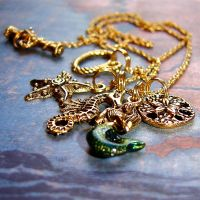 Charm Sea Golden Mermaid by PrettyShinyThings
