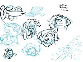 Batch o Doodles by The-Seacow