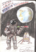 SPACE PIZZA DELIVERY by LusitanianDavid