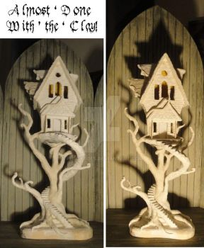 2015 WIP Haunted [Tree] House Sculpture by peggytoes