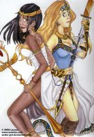 Isis and Freya by antler-girl