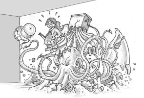 Cthulhu in the toilet by alexine-pankhurst