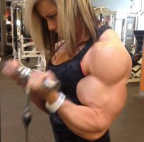 Muscle girl biceps by Turbo99