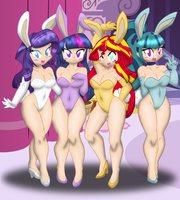 (Coloured) The Bunnies of Canterlot (Hoseless) by Ponyguy67