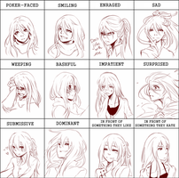 Pixiv expression meme with Anna by Houdidoo