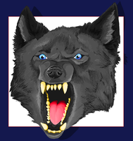 Snarling Wolf in ms paint by Archerionwolf