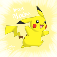 #025 Pikachu by Bluekiss131