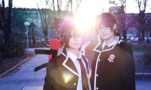 Ao no Exorcist - Yukio and Rin by Locxien