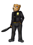 Police Bear (commison) by Tomek1000