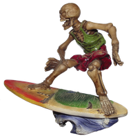 Surfing Skeleton 002 - Clear Cut PNG by Travail-de-lame