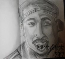 Tupac Portrait Study by AntonSterling