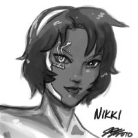 Nikki Head Sketch by johnjoseco