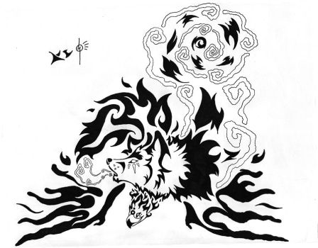 Tattoos by fleech hunter on deviantart for Fire and ice tattoo shop