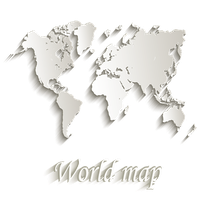 World map paper by KmyGraphic