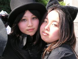Japanese Goth Girls Two by lifelessStock