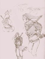 Link LoZ SketchDerp by witch13888
