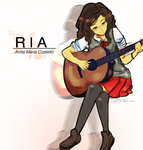 With the guitar by frichi-noy