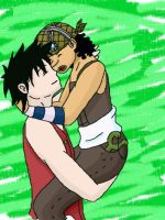 Luffy x Usopp Up we go by Lusikka