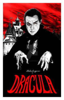 Dracula Poster 11x17 by Silentkidsolo