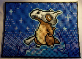 Cubone Card Perler Sprite by KingAvaricious