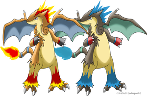 Fakemon Quilavzard by Phatmon66
