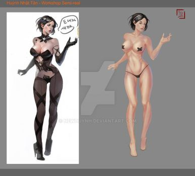 Female body study by NewHuynh